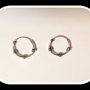 Aros de plata 12mm