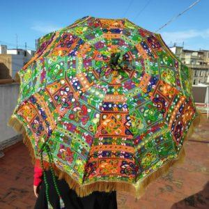 Sombrilla parasol bordada