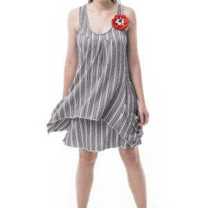 Vestido doble de rayas
