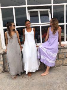 Vestido algodón largo