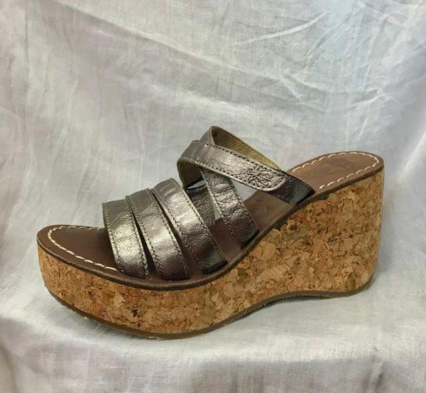 Sandalia zuecos de plataforma