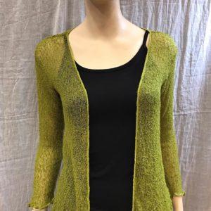 chaqueta crochet verde