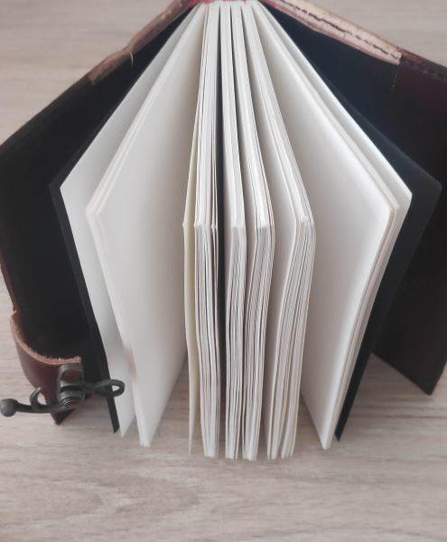 Cuaderno funda piel