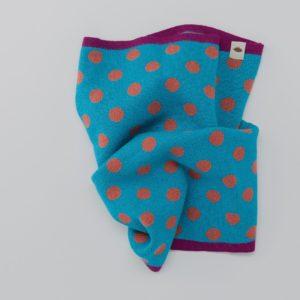 Cuello bufanda azul