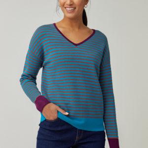 Jersey azul de rayas